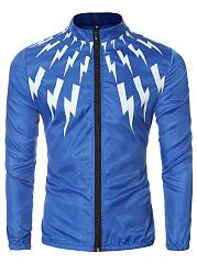 Band-Collar-Lightning-Printed-Men-Jacket