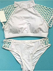 Plain Hollow Out Bikini