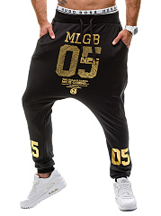 Modern-Mens-Casual-Letters-Printed-Pegged-Jogger-Pants