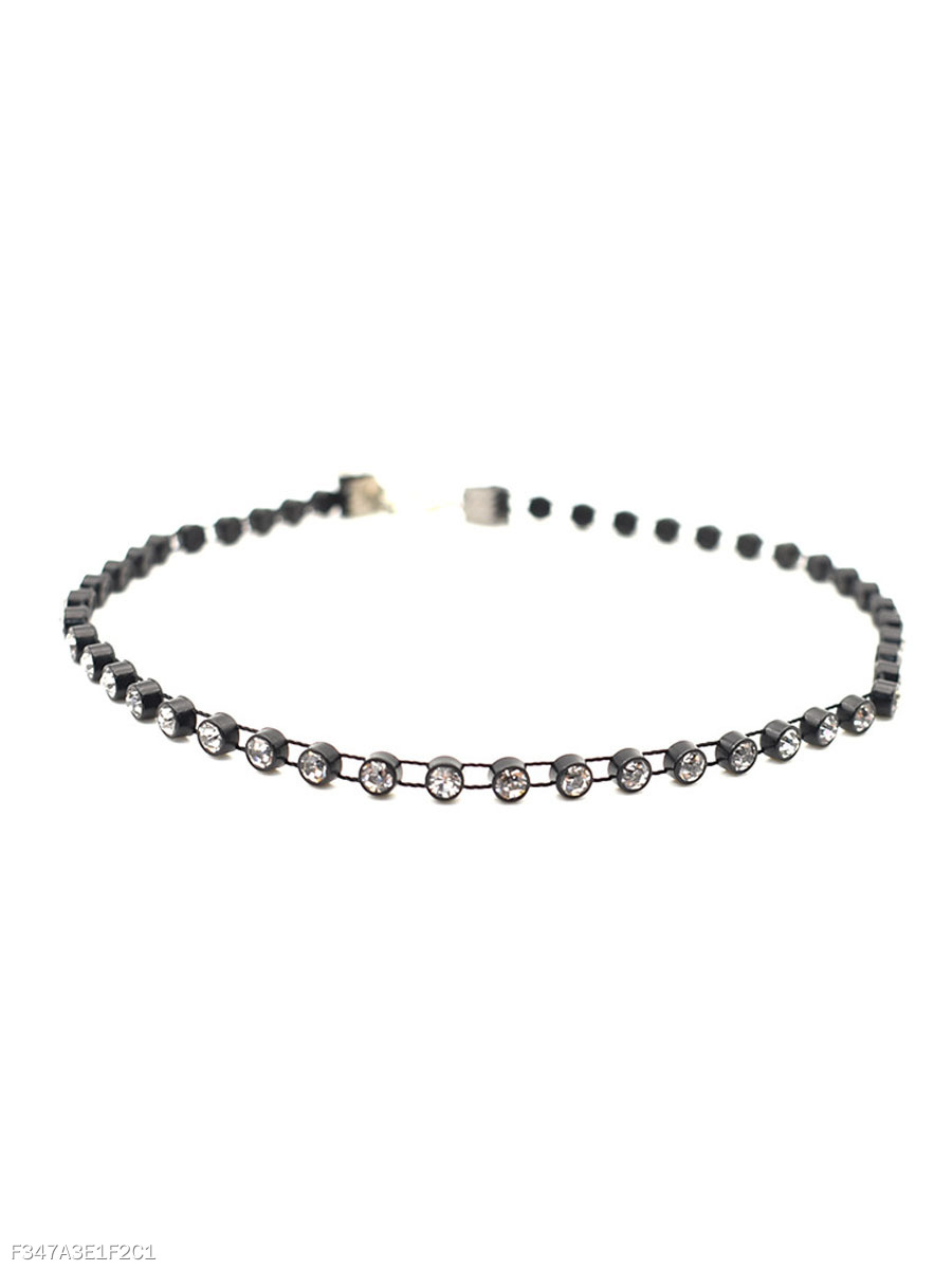 Rhinestone Shine Choker Necklace