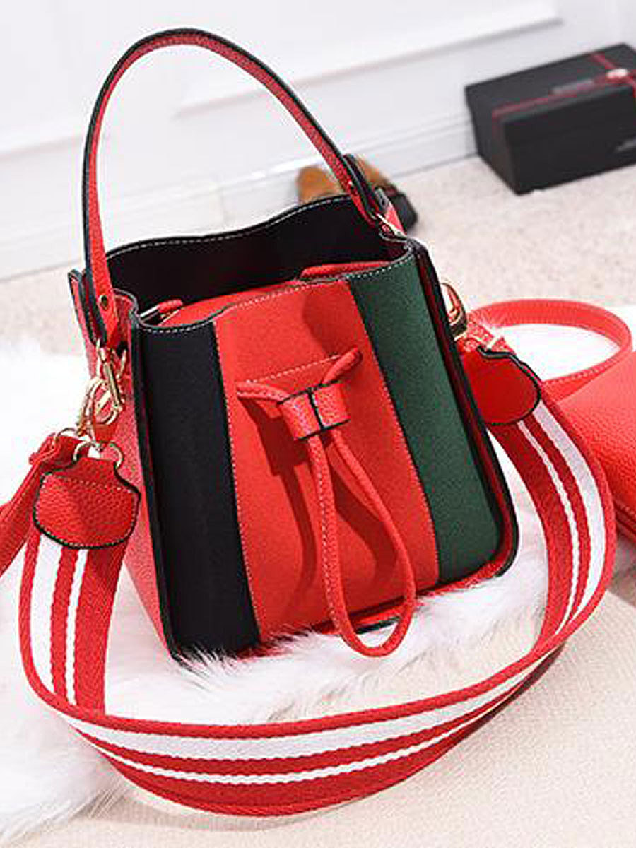 New Style Chic Color Block Women Shoulder Bags