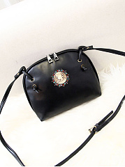 Vintage Badge  Pu Crossbody Bag