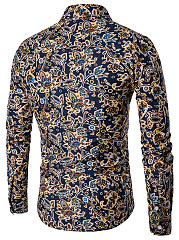 Men's Pattern Slim  Long-Sleeved Shirt