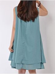 Alluring Round Neck Loose Fitting  Shift-Dresses