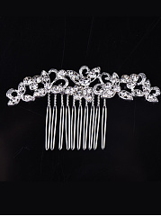 Floral Crystal Hair Comb