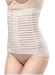 Striped Hollow Out Underwear Modeling Strap Belt Slimming Corset