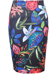 Charming Printed  Pencil Midi Skirt
