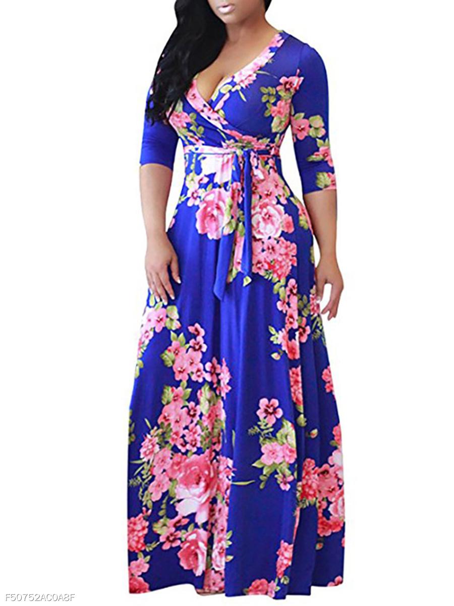 54eef9639c3 Purple Floral Maxi Dress Plus Size - Gomes Weine AG