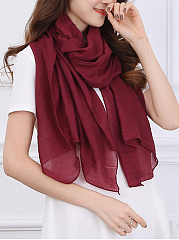 Cotton Linen Plain Scarves
