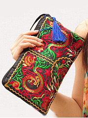 New-National-Style-Embrioidery-Abstract-Print-Zipper-Special-Hand-Bag
