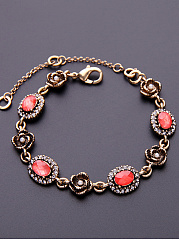 Rhinestone Adjustable Link Bracelet