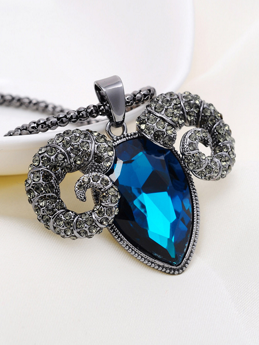 Sheep Shape Crystal Necklace