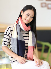 Lady Fashion Woolen Plald Scarves