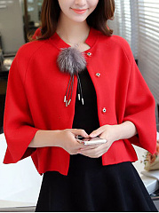 Fur Ball Cloak Bat  Plain Shirt Cape