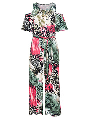Open-Shoulder-Animal-Printed-Wide-Leg-Jumpsuit