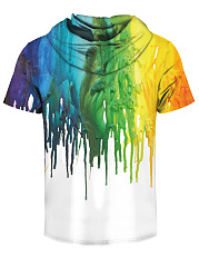 Hooded Men Multi-Color Printed T-Shirt