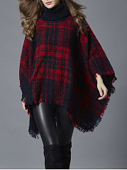 Tricoter Frayed Trim Plaid