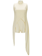 Designed-Band-Collar-Plain-Romper