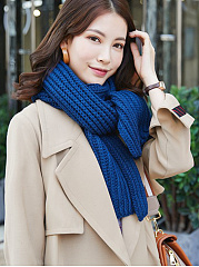 New Warm Elegant  Knitted Long Thick Scarf