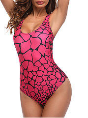 Rose Red Backless One Piece