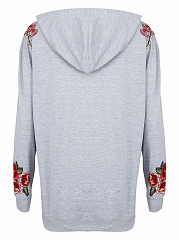 Kangaroo Pocket Embroidery Applique Hoodie