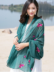 Lady Fashion Floral Printed Scarves