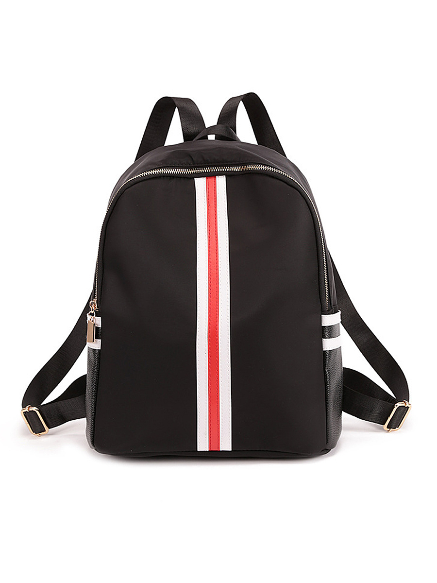 Color Block Striped Backpacks