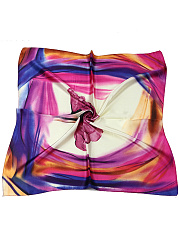 Floral Printed Silk Squared Scarf