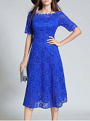 Round-Neck-Lace-Lace-Evening-Dresses
