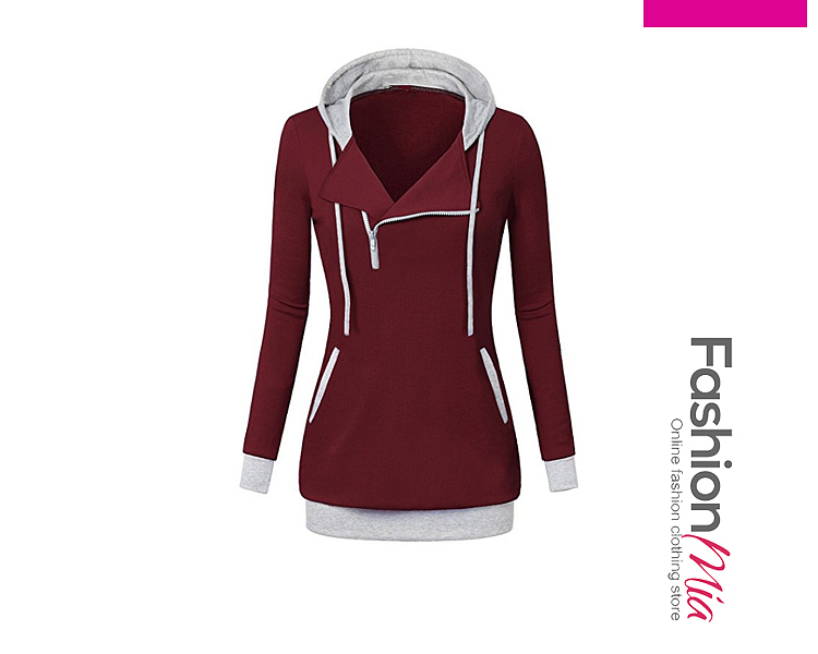 gender:women, hooded:yes, thickness:regular, brand_name:fashionmia, style:casual,fashion, material:blend, collar&neckline:hooded, sleeve:long sleeve, embellishment:slit pocket,zips, occasion:sport, season:winter, package_included:top*1, lengthshouldersleeve lengthbustwaist
