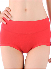 Classical Single Color Soft Cotton Panties