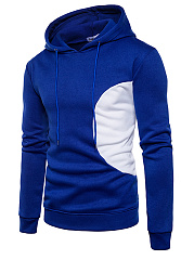 Color Block Drawstring Men Hoodie
