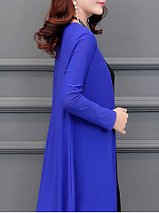 Asymmetric Hem  Plain  Long Sleeve Cardigans