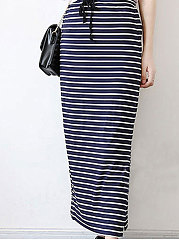 Striped Maxi Skirts For Women