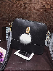 New-Fashion-Shell-Bag-With-Pompoms-Crossbody-Bag