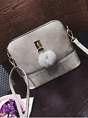 New Fashion Shell Bag With Pompoms Crossbody Bag
