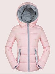 Hooded  Zips  Contrast Piping  Plain Coats