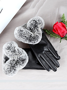 Soft Thick Patchwork Gloves