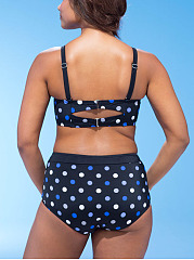 Polka Dot  High-Rise Big Size Swimwear