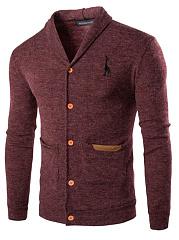 Shawl-Collar-Patch-Pocket-Single-Breasted-Men-Cardigan