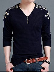 V-Neck-Pattern-Men-Long-Sleeve-Sweater
