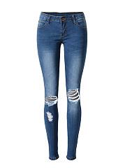 Ripped-Light-Wash-Slim-Leg-Mid-Rise-Jeans