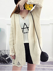 Slit Pocket  Plain Knitwear