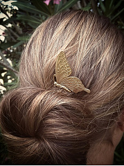 Gold Butterfly Shape Hsir Comb
