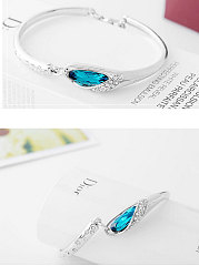 Blue Faux Crystal Shinning Bracelets