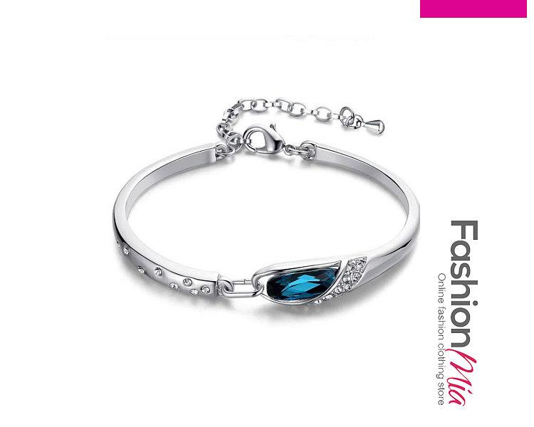 Blue Faux Crystal Shinning Bracelets