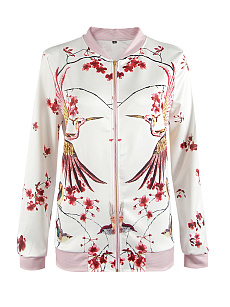 Zips  Printed  Long Sleeve Jackets