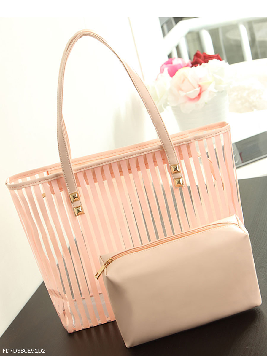 Stripped Chic Shoulder Bag