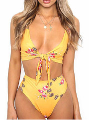 Printed  High-Rise Bikini For Women