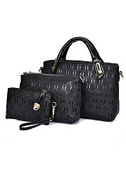 Plain Three Pieces European Style Women Hand Bags